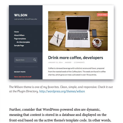 Screenshot: Chapter 2: Intro to WordPress Themes