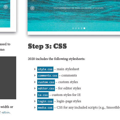 Screenshot: Chapter 12: Full-width Multimedia Slider