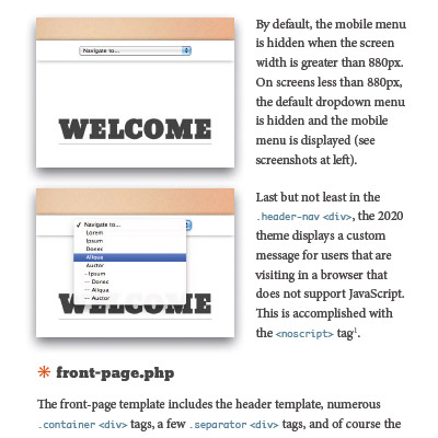 Screenshot: Chapter 12: Responsive Mobile Menu