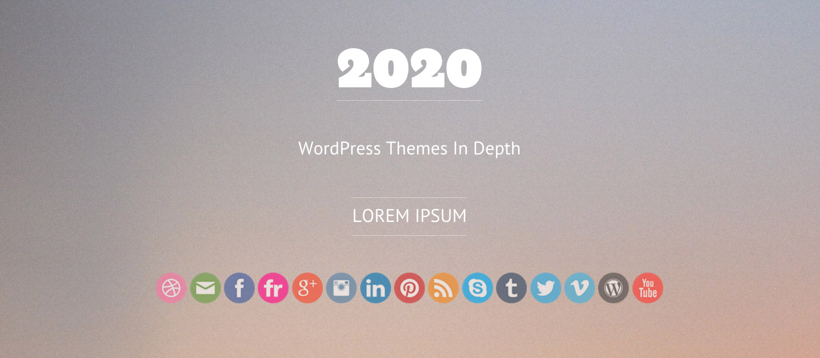 Screenshot: 2020 Theme: Page Header
